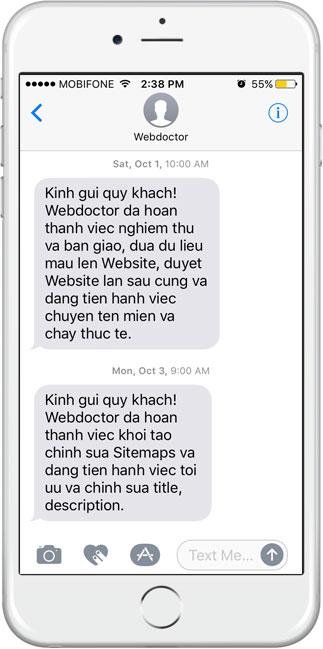 cham soc website cap nhat san pham webdoctor.vn