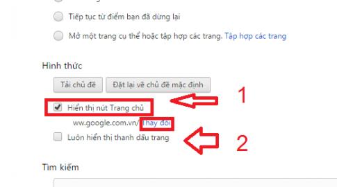 đặt Google làm trang chủ của tôi ảnh 2