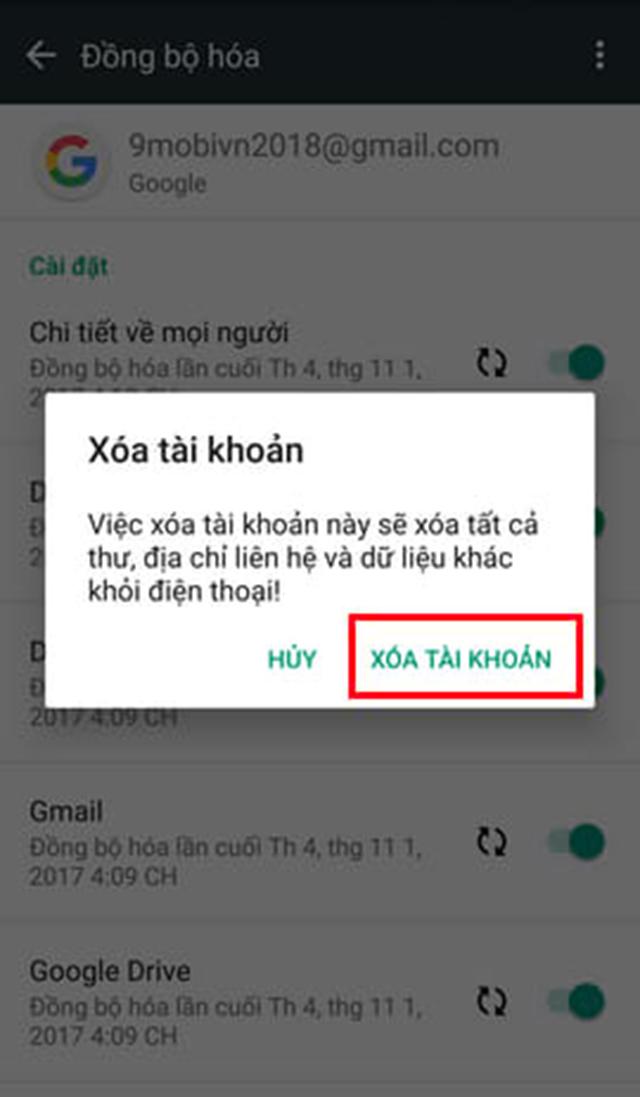 cách xóa tài khoản Google trên Android ảnh 3