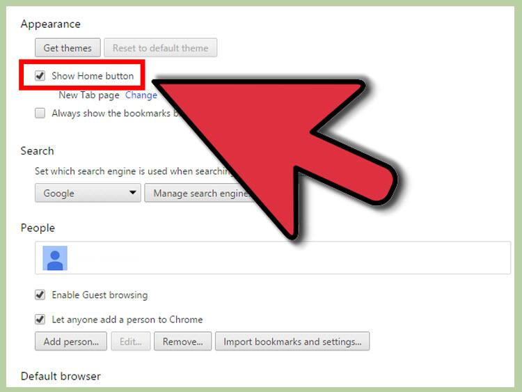 1 nốt nhạc đặt Google làm trang chủ trong Google Chrome 04