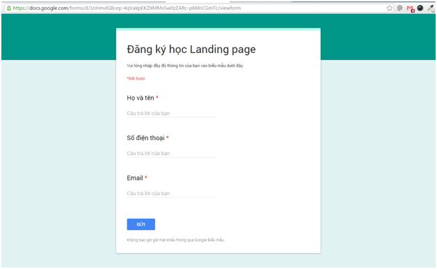 Cách tạo Form Google trên Google Drive chi tiết, đơn giản nhất 22