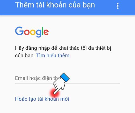 cách tạo tài khoản google play 1