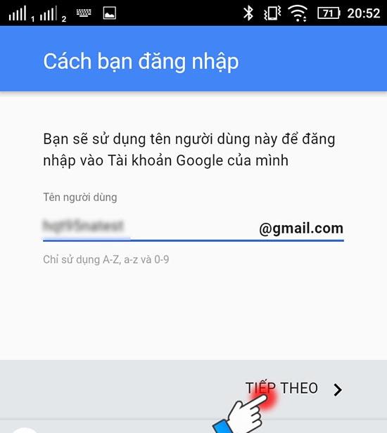 cách tạo tài khoản google play 4