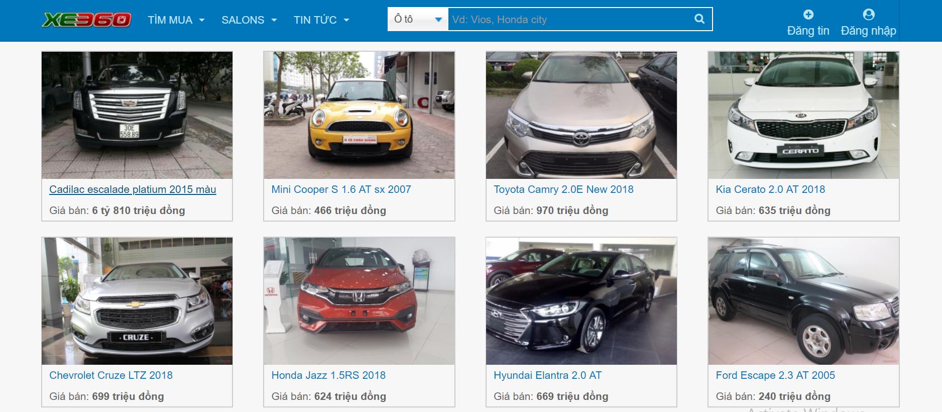 thiết kế website bán ô tô 5