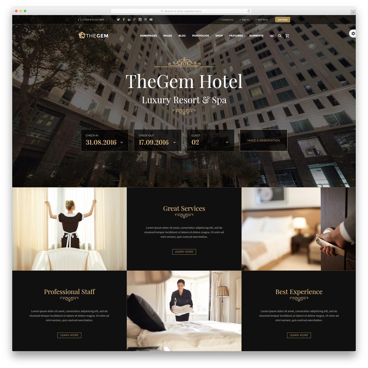 thiết kế website nhà hàng khách sạn2