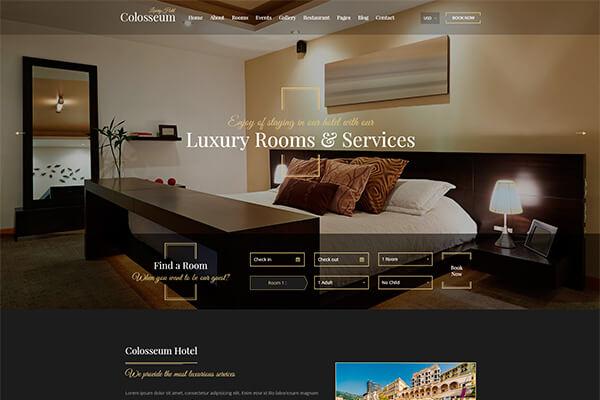 thiết kế website nhà hàng khách sạn1