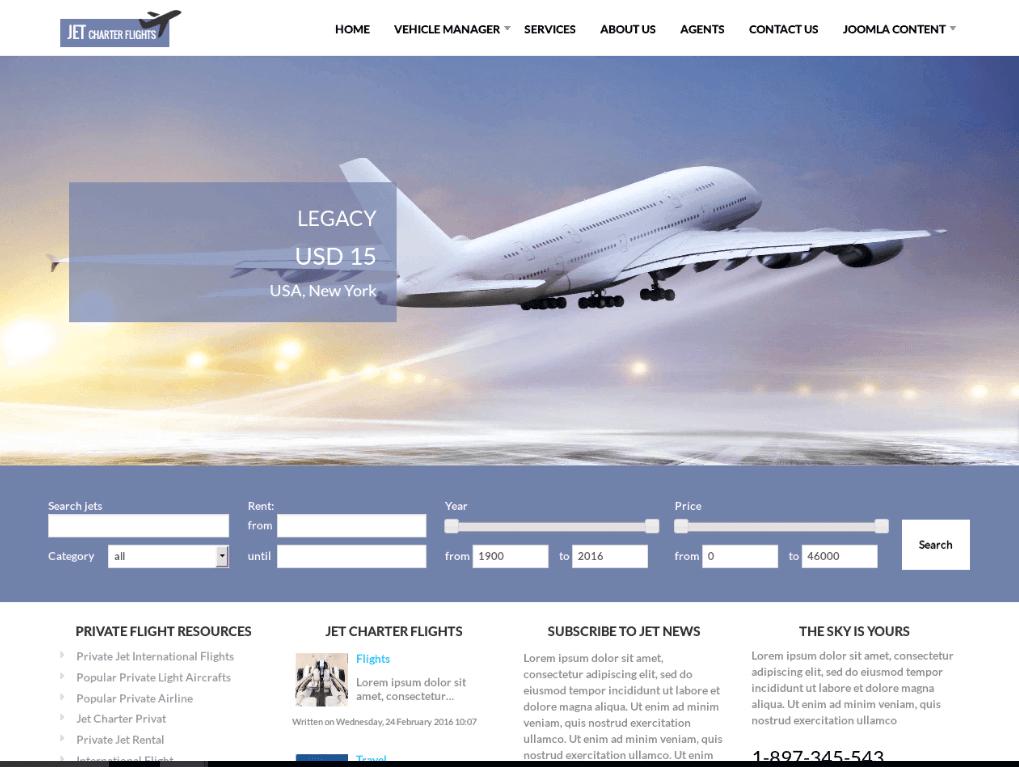 thiết kế web vé máy bay 1