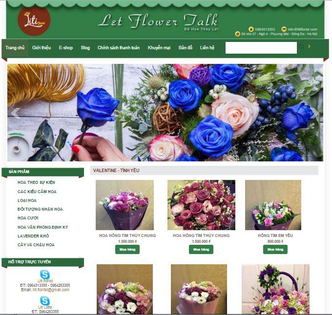 ý tưởng thiết kế website kinh doanh hoa tươi 5