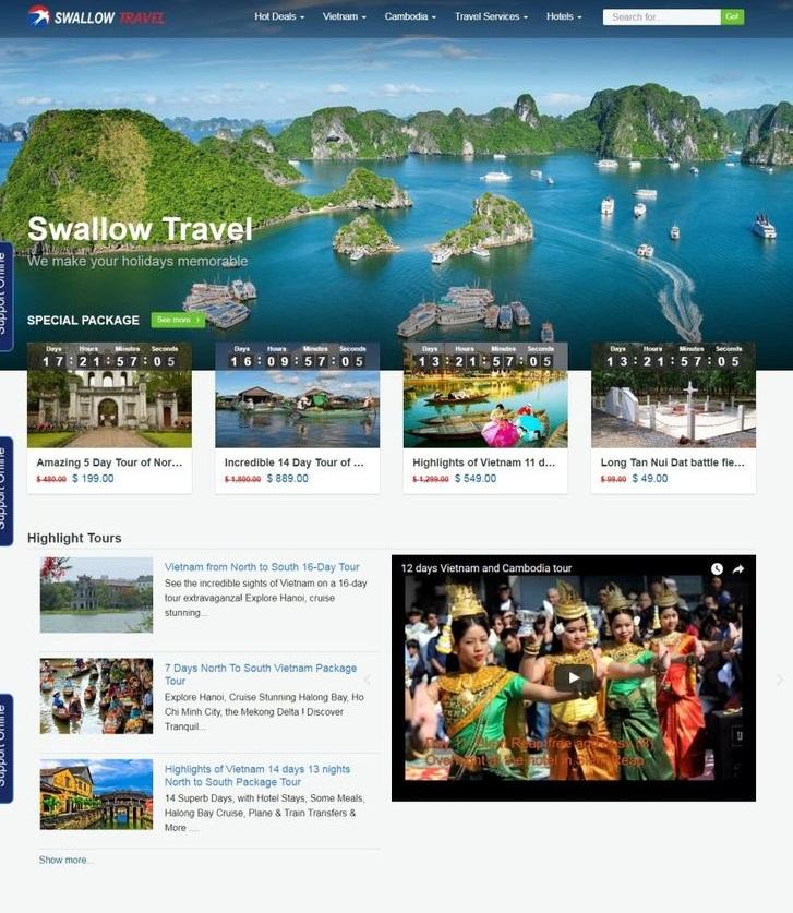 thiết kế website du lịch chuyên nghiệp 03