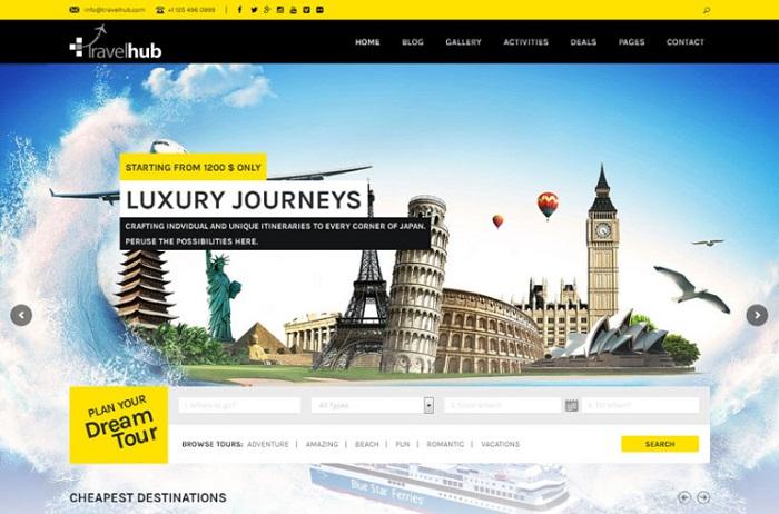 thiết kế website du lịch chuyên nghiệp 04