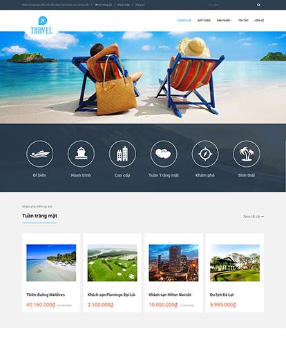 thiết kế website du lịch chuyên nghiệp 02