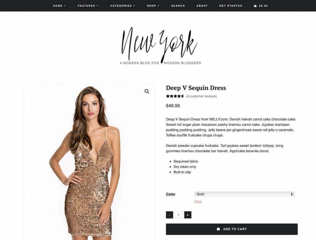 mẫu giao diện website thời trang