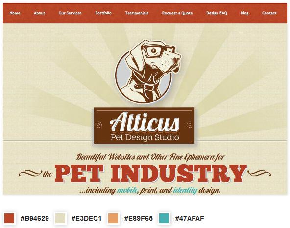 phối màu trong thiết kế website