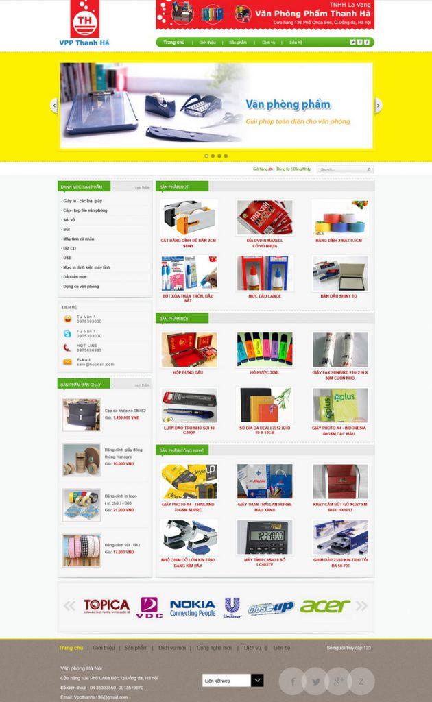 mẫu website bán hàng 10