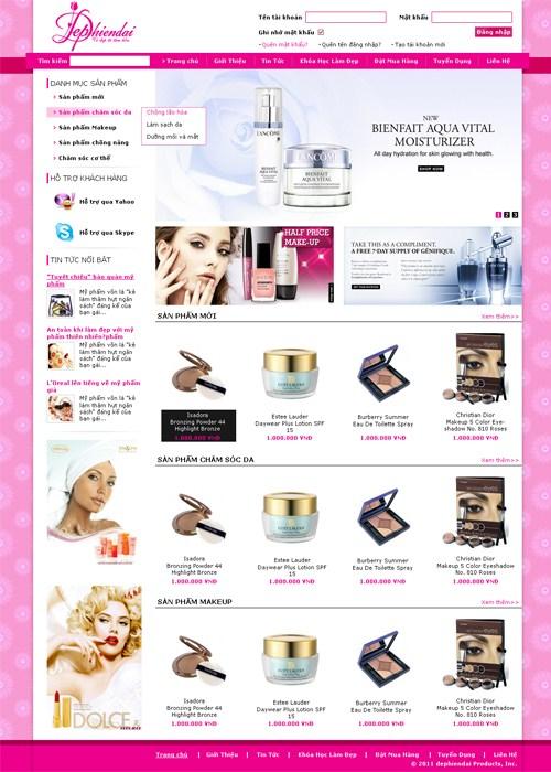 mẫu website bán hàng 02
