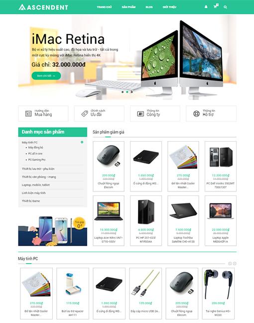 mẫu website bán hàng 04