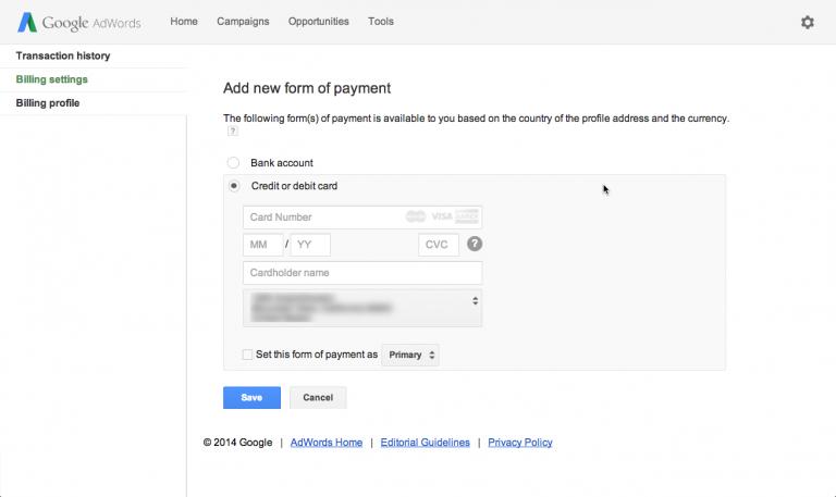 thanh toán quảng cáo Google AdWords 03