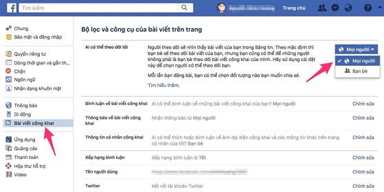 cách làm hiện số người theo dõi trên facebook 02