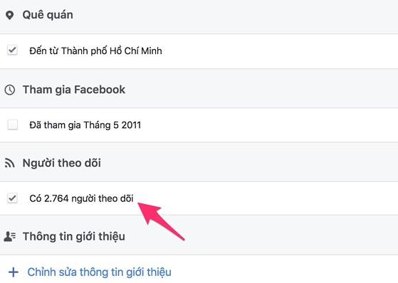 cách làm hiện số người theo dõi trên facebook 05
