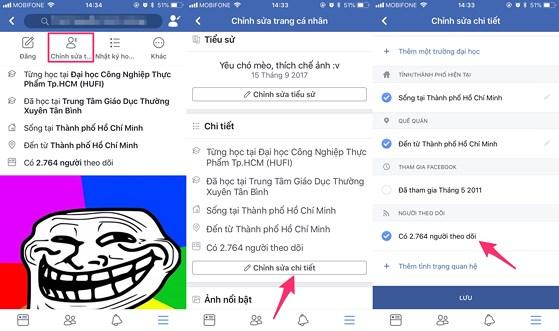 cách làm hiện số người theo dõi trên facebook 06