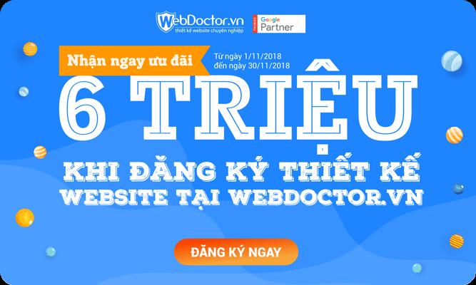 Khuyến mãi tháng 11 thiết kế web